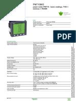 Schneider Electric PM710MG Datasheet