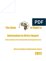 The State of Right to Information in Africa Report