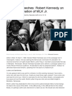 lifework 9 2f28- rfk remarks on assassination of mlk article