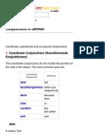 Conjunctions in German