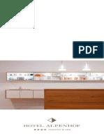 Beauty & Spa Folder Design & Wellness Hotel Alpenhof, Flachau