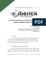 A Filosofia Brasileira - As Posições de Antônio Joaquim Severino e Miguel Reale