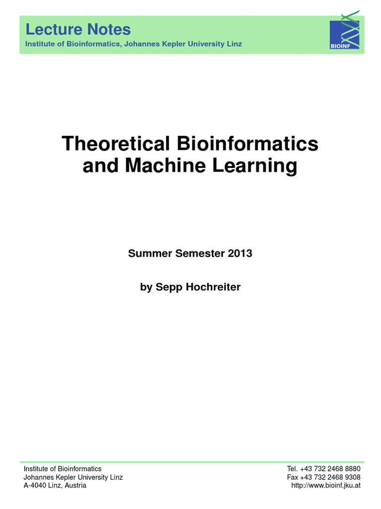 Theoretical Bioinformatics and Machine Learning | Support