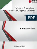 Preferable Smartphone Brands Among MSU Students