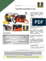 Serra de Trilhos - Policorte - Husqvarna- k1260