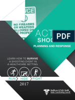 2017 Active Shooter Planning and Response in a Healthcare Setting