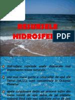 Resursele hidrosferei