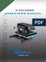 Hotronix Air Swinger Press Operators Manual
