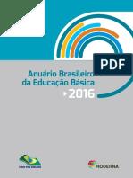 Anuário educação 2016