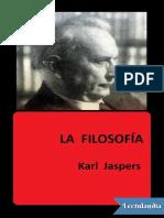 La Filosofia Desde El Punto de Vista de La Existencia - Karl Jaspers
