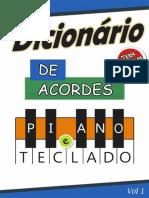 Dicionário de acordes para Teclado - Mania de Teclado - 708 acordes