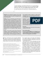 Nasal Cytology and Clinical Factors in Nasal Polyps