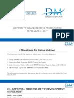 Beck Ventures Dallas Midtown TIF Board Meeting Presentation September 7, 2017