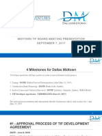 Beck Ventures Dallas Midtown TIF Board Meeting Presentation September 7, 2017
