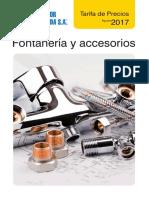 Fontaneria Tarifa PVP Salvador Escoda