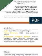 Persamaan Dan Perbezaan Teori Pembinaan Kurikulum Antara Model Objektif Dan Model Proses