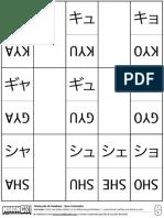 NihonGO - Flashcards de Katakaná - Sons Contraídos