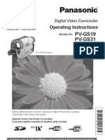 Panasonic-Video Cam PVGS19 Manual