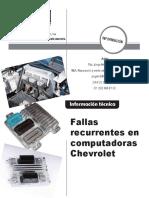 Fallas Recurrentes en Computadoras Chevrolet