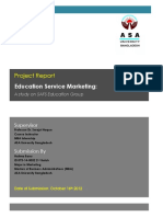 Education Service Marketing a Study on SAFS Education Group