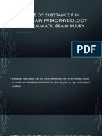 The Role of Substance P in Secondary Pathophysiology