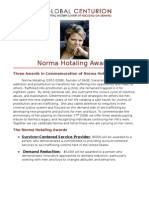 Norma Hotaling Awards Announcement