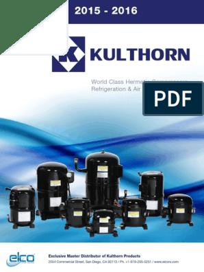 Kulthorn Catalog | Air Conditioning | Refrigerator on
