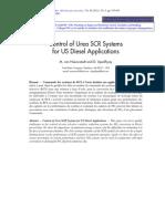 Control of Urea SCR Systems