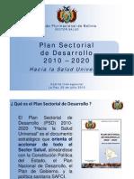 Plan Sectorial de Desarrollo 2010 - 2020