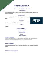 Codigo Penal Guatemalteco DECRETO DEL CONGRESO 17-73.doc