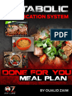Meal Plan Sample