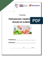 Manual Preparación y Manipulación Segura de Alimentos
