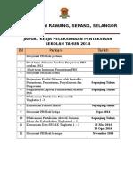 Jadual Pelaksanaan PBS 2014