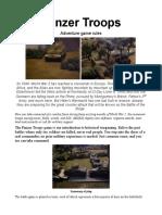Panzer Troops Minis Game