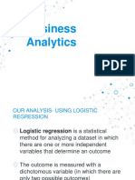 Business ANalytics- Logistic Regression