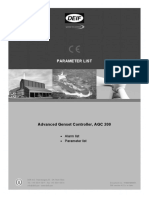 AGC 200 Parameter -England