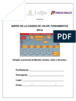 Mapeo de La Cadena de Valor 8hrs-Manual Del Participante 2017