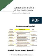 Perencanaan Dan Analisis Wilayah Berbasis Spasial