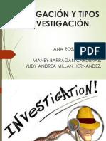 EXPOSICION INVESTIGACIÓN Y TIPOS DE INVESTIGACION