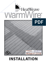Watts Radiant HeatWeave WarmWire Manual