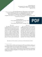Las Unidades de Justicia Vecinal en Chile y Sus Modelos en La Experiencia de Los Estados Unidos de Norteamérica