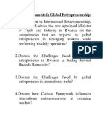 Group Assignment in Global Entrepreneurship