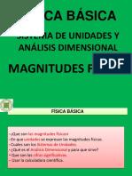 SEMANA 01 - Magnitudes Fisicas