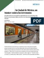 El Metro de La Ciudad de México, Un Búnker Contra Los Terremotos _ Internacional _ EL PAÍS