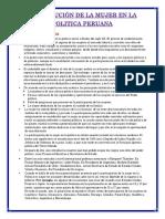 PARTICIPACION  DE LA MUJER EN LA POLITICA PERUANA 2.docx