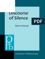 [Dennis Kurzon] Discourse of Silence