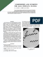 Clément, Giddey, Menzi - 1967 - Amino Acid Composition and Nutritive Value of the Alga Spirulina Maxima