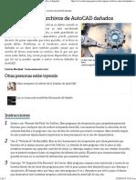 Cómo Recuperar Archivos de AutoCAD Dañados _ EHow en Español