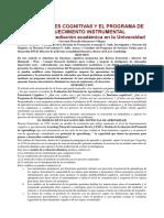 Las Funciones Cognitivas y El Programa de Enriquecimiento Instrumental