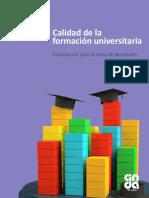CINDA - 2016 -Calidad de La Formación Universitaria, Información Para La Toma de Decisiones
